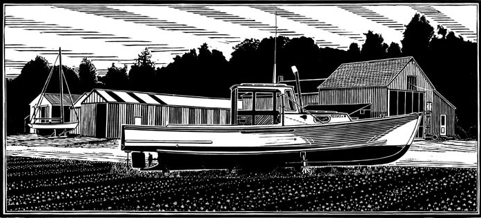 Maine Lobster Boat, Bridges Point Boat Yard