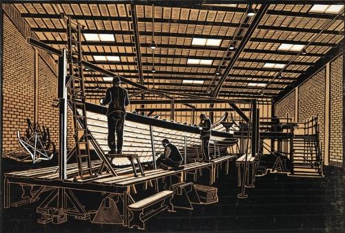 Building the Royal Barge, 'Gloriana'
