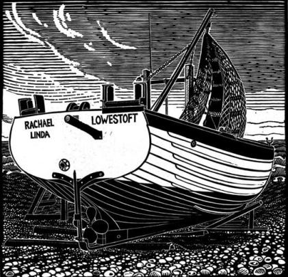 Transom of an Aldeburgh Lobster Boat