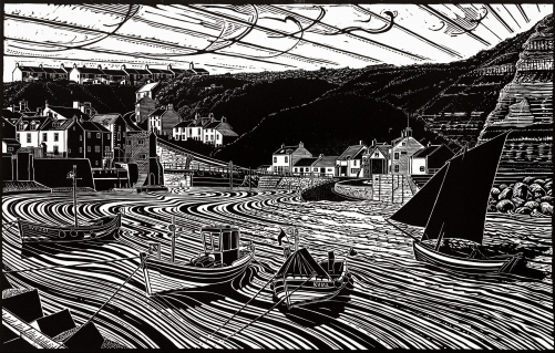 Keel Boats and Cobles, Staithes, Yorkshire