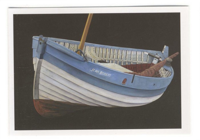 Norfolk Crabber folding card